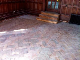time damaged wooden floor