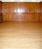 floor and wood panels polished