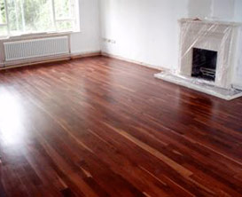 natural wooden floor polished in situ