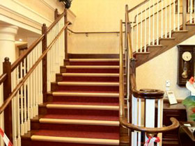 Polished banisters
